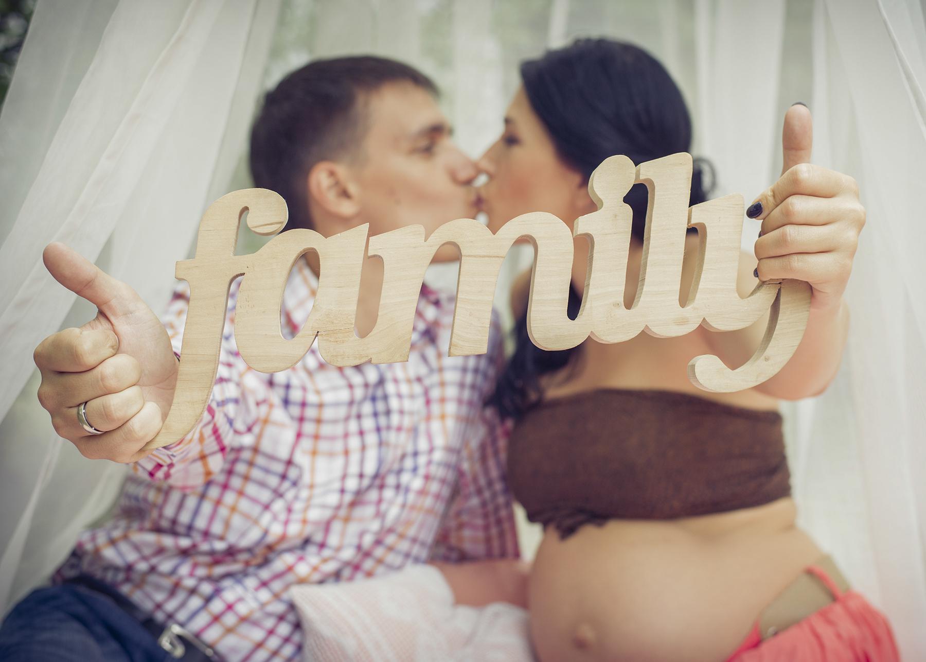 Семейная в ожидании чуда фотосъемка