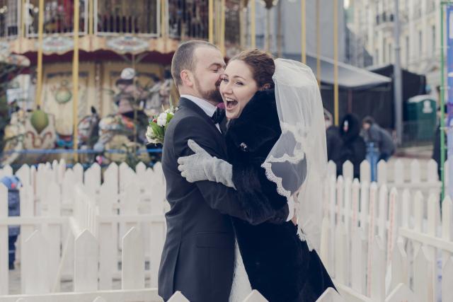 Свадебный фотограф зимой