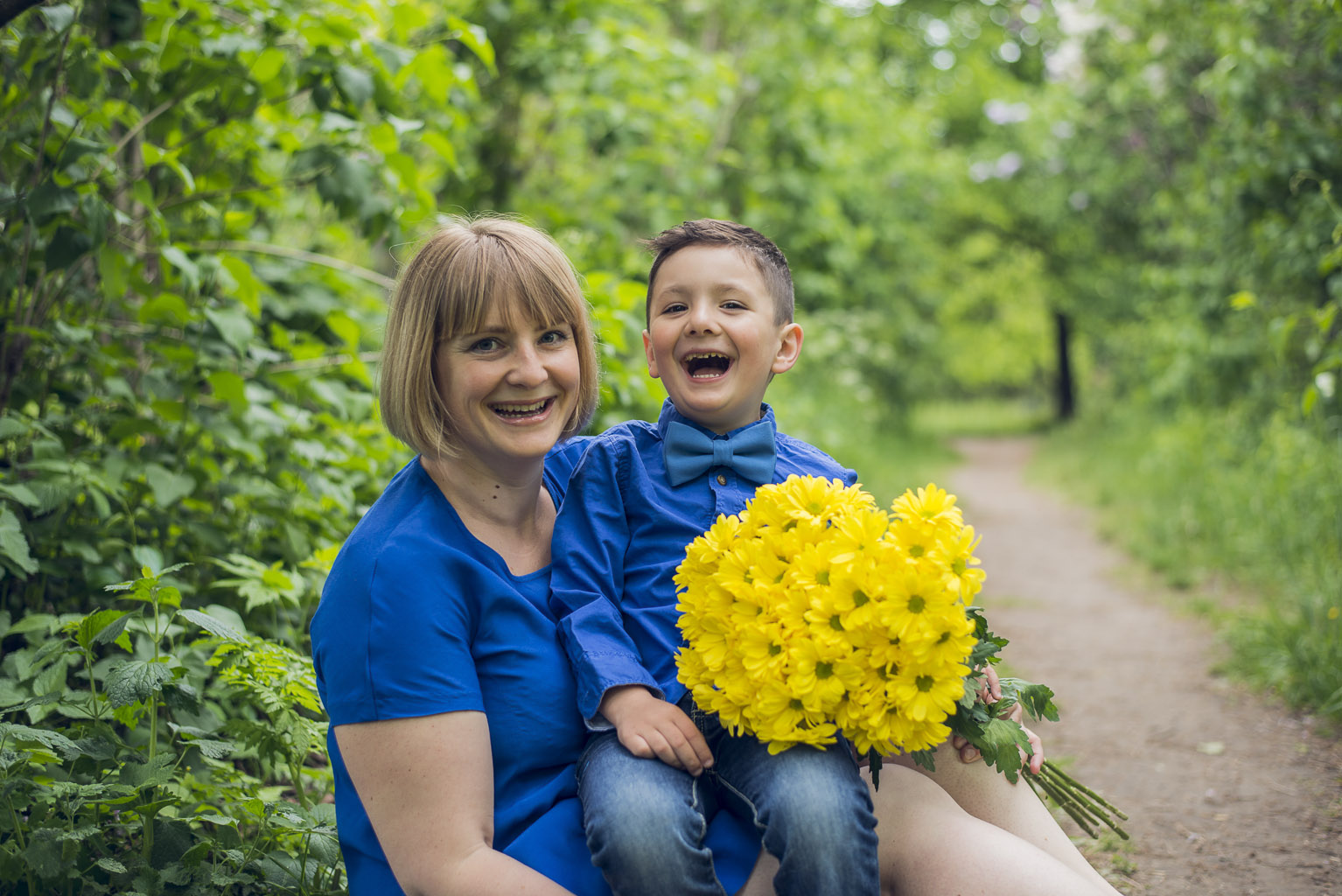 Семейная фотосессия дети родители
